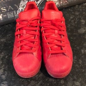 Adidas Shell Toes Sneakers RED 10.5. Like New